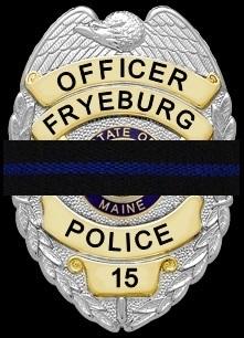 Fryeburg Police Officer Badge 15