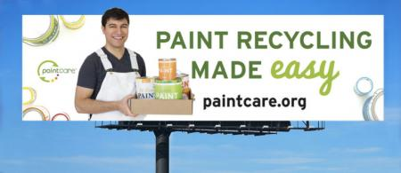 """Billboard  - """"Paint Recycling Made Easy, paintcare.org"""""""